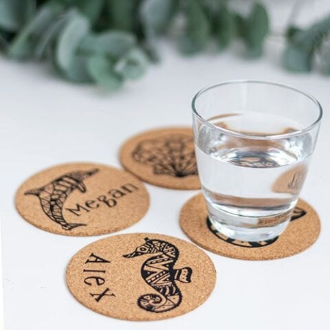 Personalized Cork Coasters - DIY Gift Idea