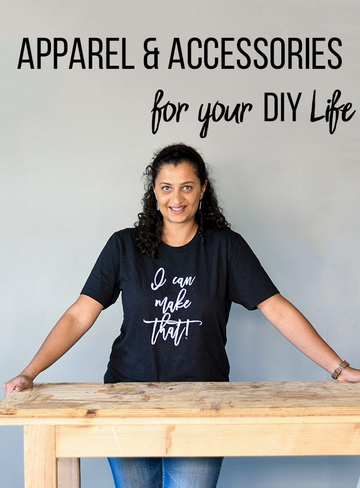 Woman with I can make that t-shirt in workshop