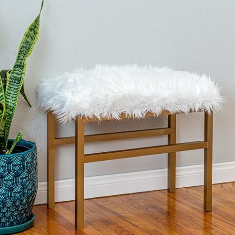 DIY Upholstered Metal Bench - No-Weld!