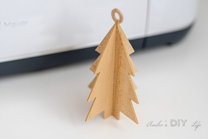 Completed DIY wooden Christmas ornament