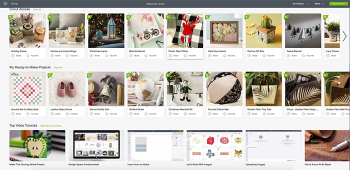 Cricut design space snapshot