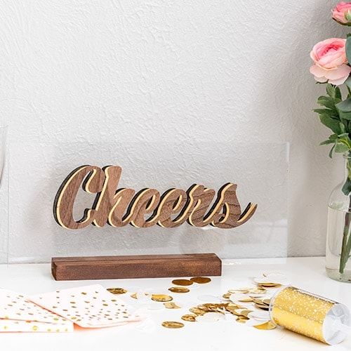 DIY 3-D Floating Decorative Letters using a Cricut Maker
