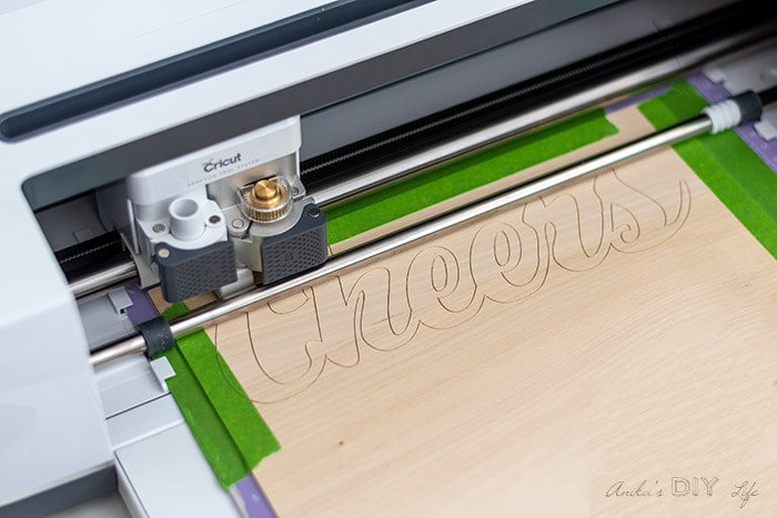 Cutting wooden letters out of basswood on Cricut Maker