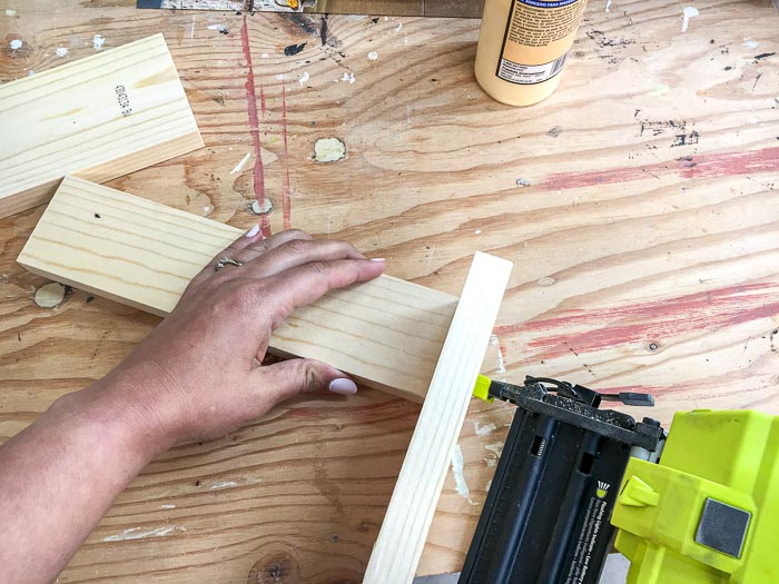 Attaching boards using a brad nailer