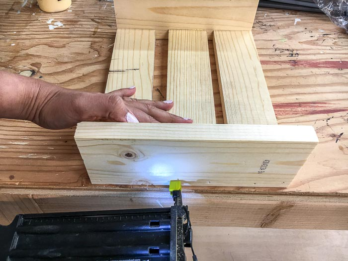 attaching remaining boards for the DIY laptop desk