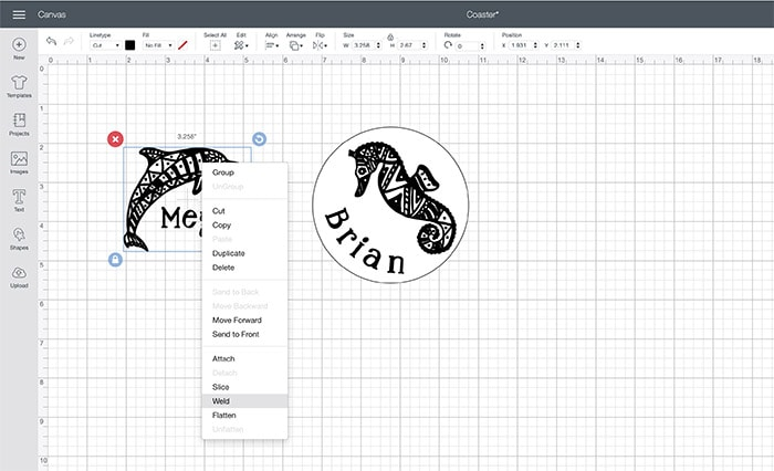 How to keep images from moving in Cricut Design space using weld function
