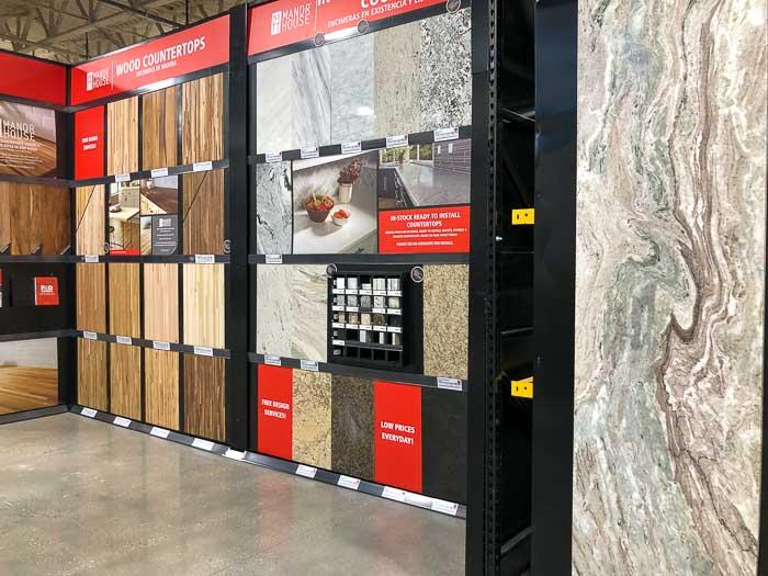 countertop options at Floor & Decor