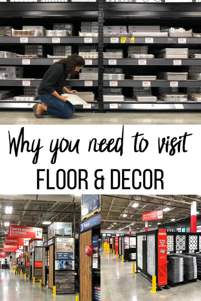 collage of floor  & Decor visit and review