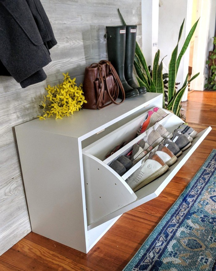 pullout shoe storage cabinet