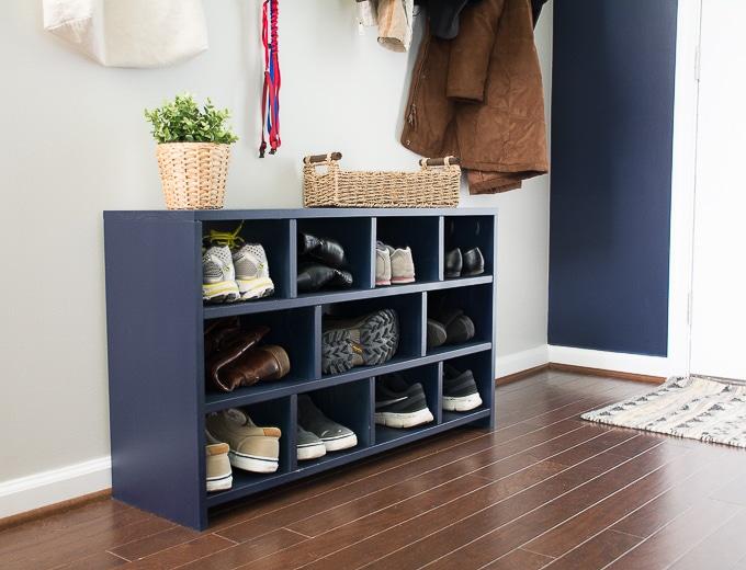 DIY shoe storage cubbies