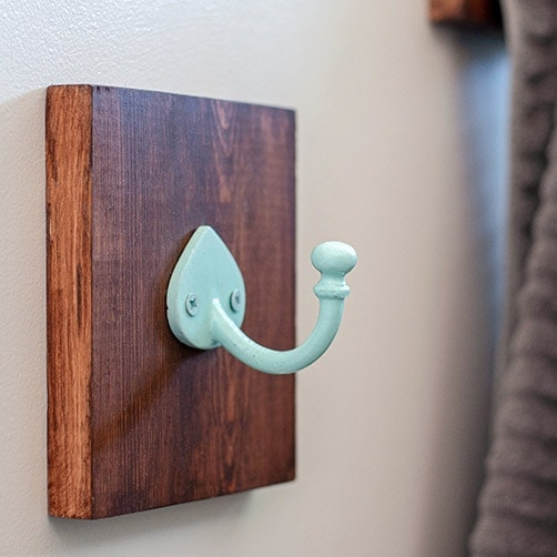 Simple DIY Bathroom Towel Hooks