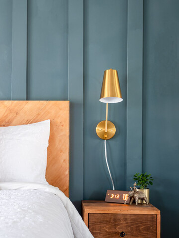 I gave my master bedroom a quick but powerful makeover with a simple DIY board and batten wall. I am sharing the before and after, plus all the tips you need to know to easily and quickly paint your room including the accent wall!