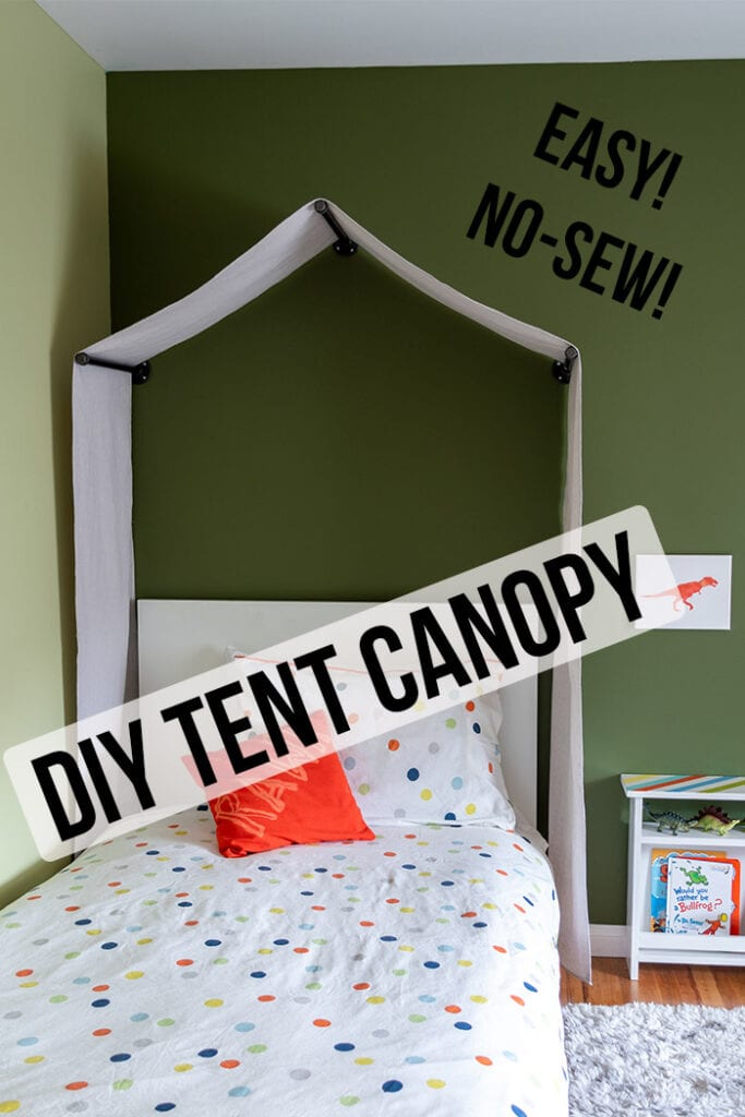 DIY Tent Canopy in a kid's room