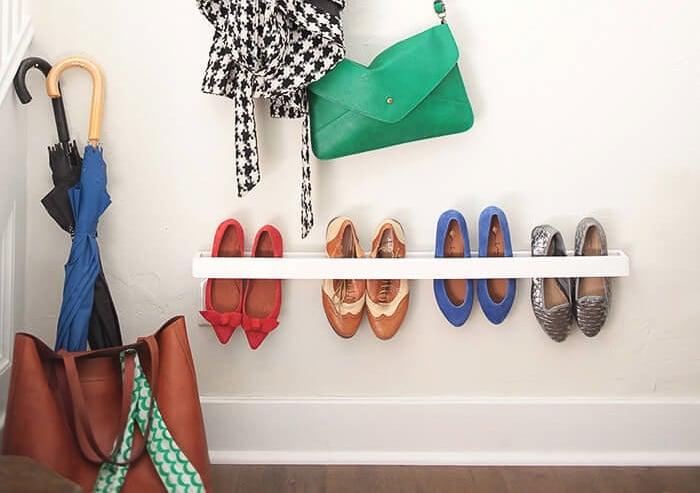 simple entryway shoe organizer