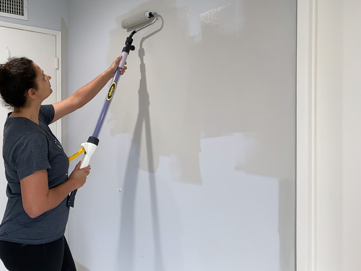 rolling paint on walls using Wagner smart roller