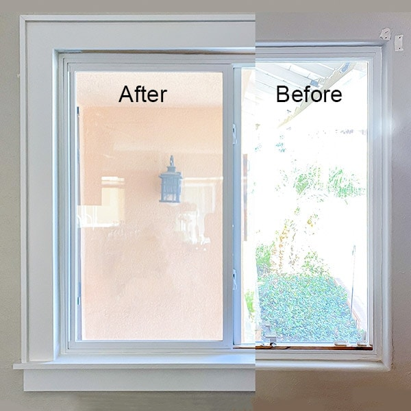 Great tutorial on how to install window trim to an interior window with rounded corners or bullnose corners. Simple and easy update to make a craftsman style or farmhouse style window. #anikasdiylife