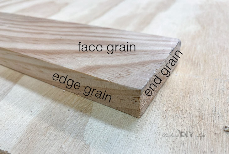 various faces of a wooden board
