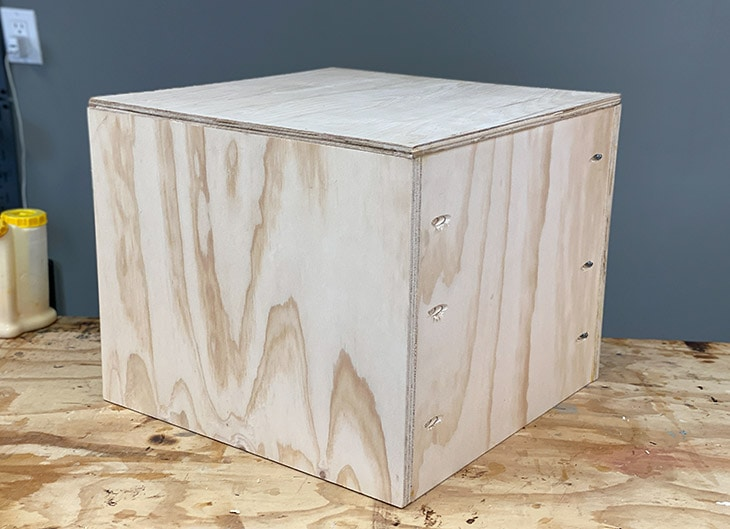 Box for DIY upholstered storage ottoman cube