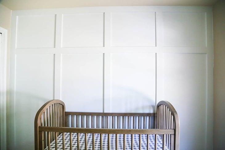 White board and batten in nursery