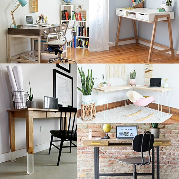 These easy DIY desk ideas are beginner-friendly, stylish and can be made at a fraction of the cost of higher-end versions. Create your perfect home office!