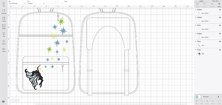Cricut design space for fairy backpack