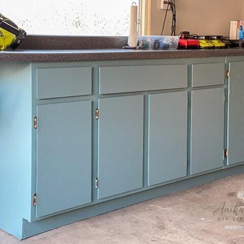 fullu painted garage cabinets