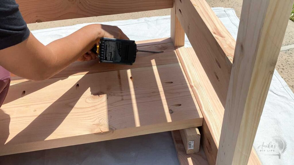 attaching wide shelf using a 2x4 support and pocket hole screws