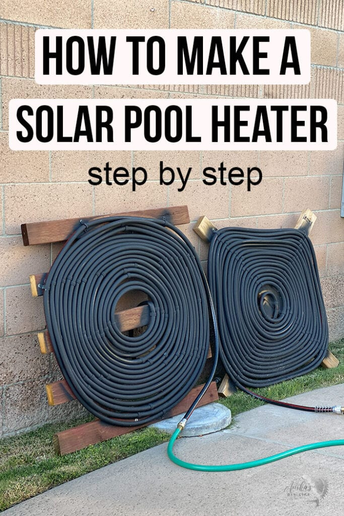 Homemade solar pool heaters on wall