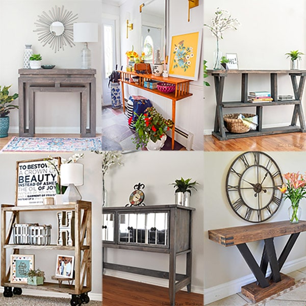 Build your own DIY console tables with these beginner-friendly ideas and woodworking plans. From entryways to the living room, you will find one you love!