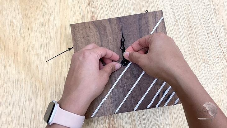 Adding clock movement to DIY wood clock