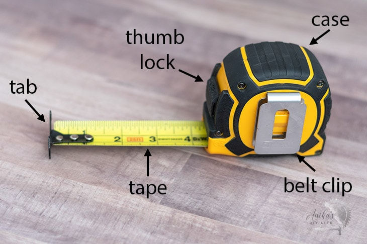 parts of a tape measure