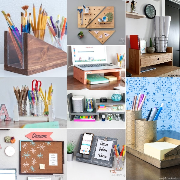 These 21 DIY desk organizer ideas will help you keep your workspace clean and organized so you can be more productive and creative!