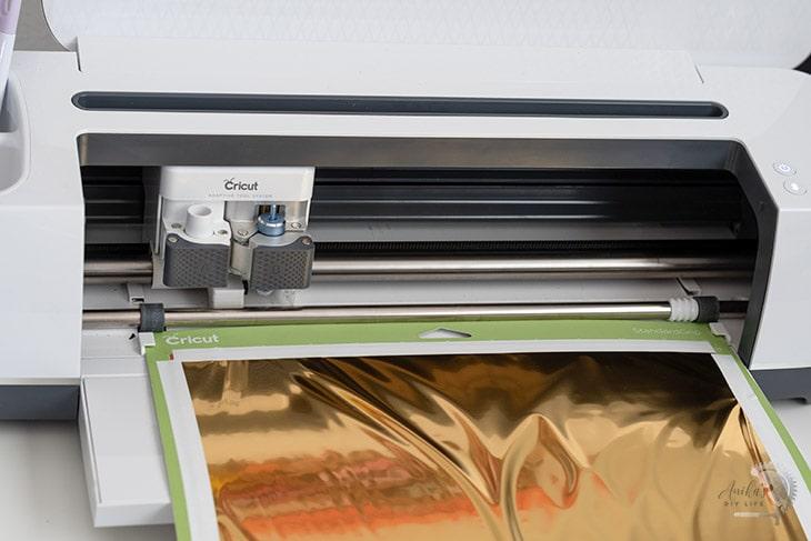 Foil transfer loading into machine