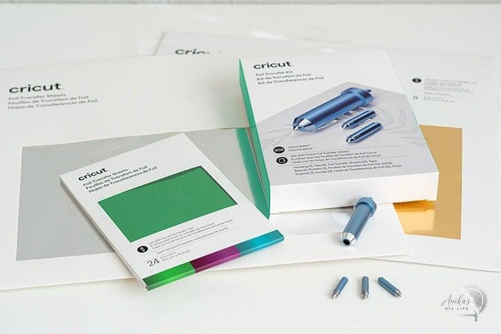 Cricut Foil Transfer System on a white table