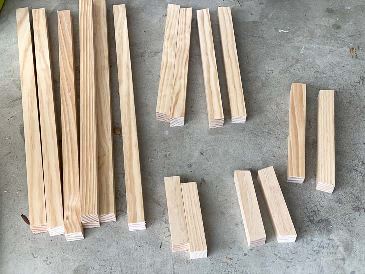 boards cut and ready to build the bench