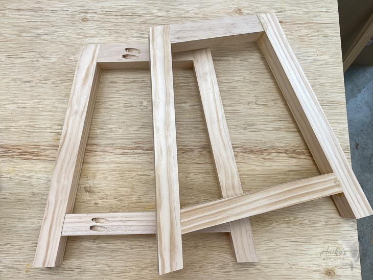 Finished sides for a DIY wooden bench