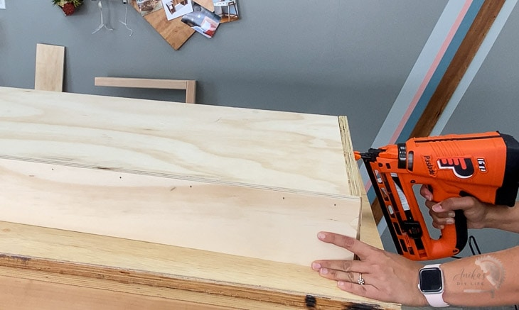 Building box using finish nailer