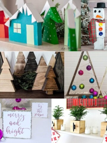 Turn your scrap wood into Christmas decor today with these simple yet beautiful Christmas woodworking project ideas!
