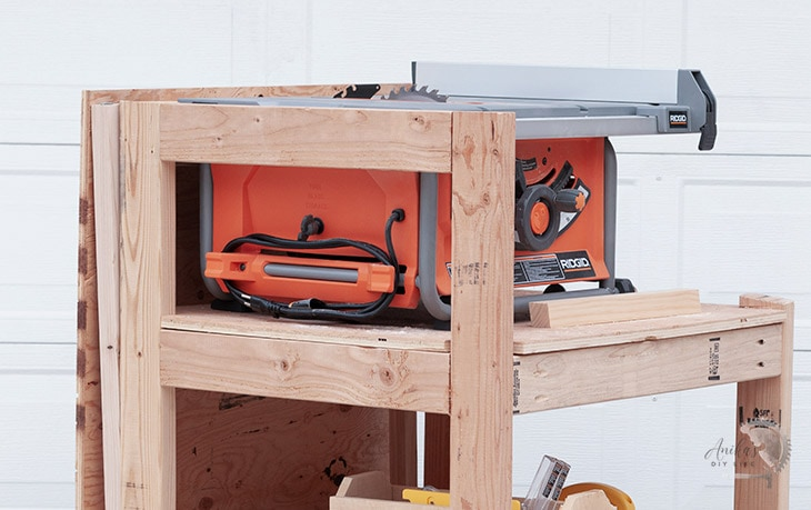 Table Saw on a wooden stand