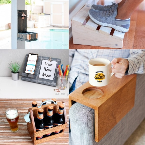 image collage of DIY gifts for him