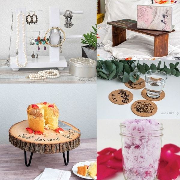 image collage of DIY gifts for her