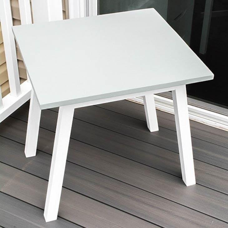 Gray and white angled leg kids table