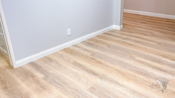 Finished room with LifeProof vinyl Plank flooring installed