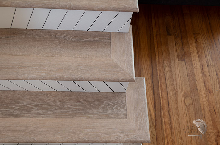 how to finish stair nose corners on vinyl plank flooing