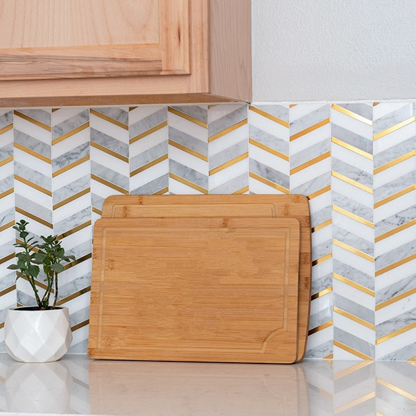 Learn how to install a mosaic kitchen backsplash using the MusselBound Adhesive Tile Mat. It is a great way for beginners to get started with tiling!