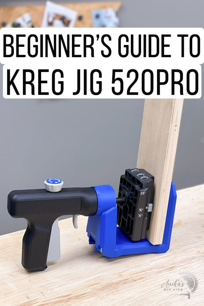 Kreg Jig 520 in use with text overlay