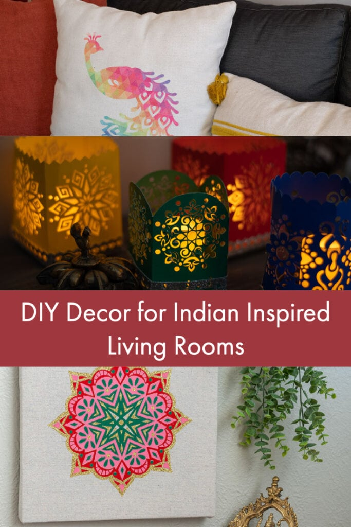 collage of Indian inspired crafts with text overlay