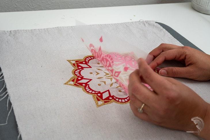 Layering iron on to make a gorgeous mandala design