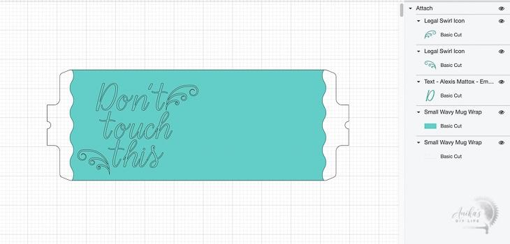 Design ready for Cricut MugPress
