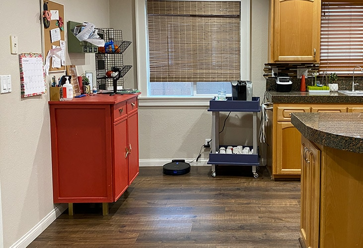 Kitchen without the cabinets